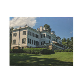Edith Wharton Mansion Wood Poster