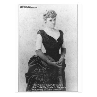 """Edith Wharton """"Spreading Light"""" Quote Gifts & Card Postcard"""