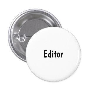 Editor Pinback Button
