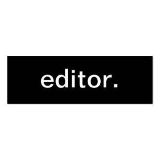Editor Business Card