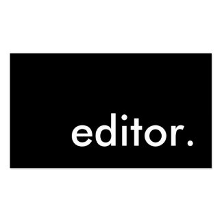 editor. pack of standard business cards
