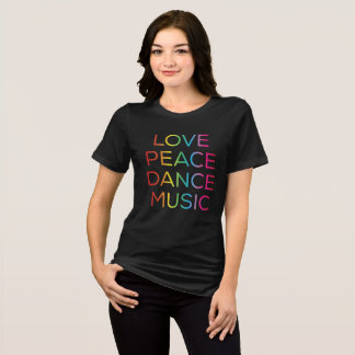 EDM Electronic Love Peace Dance Music Rave T-Shirt