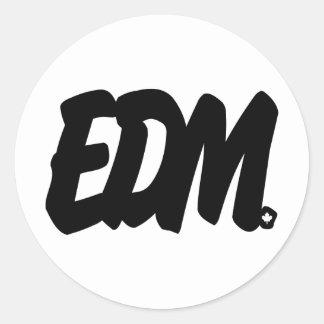 EDM Letters Classic Round Sticker