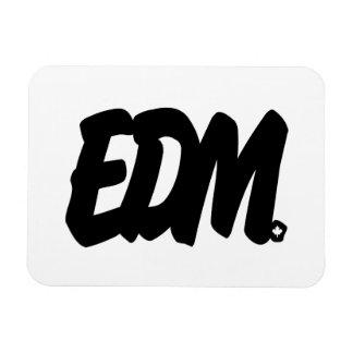 EDM Letters Rectangular Photo Magnet