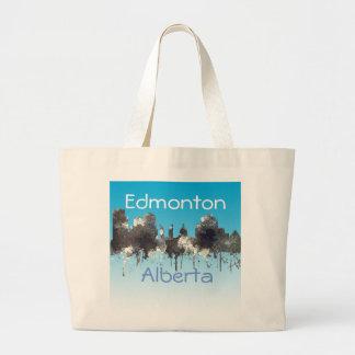 Edmonton Alta. Skyline-CRISP Large Tote Bag