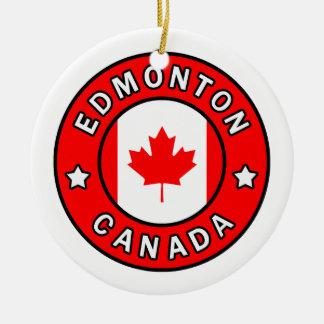 Edmonton Canada Ceramic Ornament