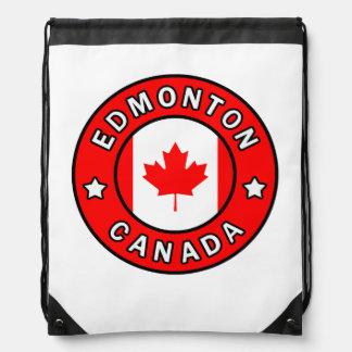 Edmonton Canada Drawstring Bag