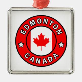 Edmonton Canada Metal Ornament