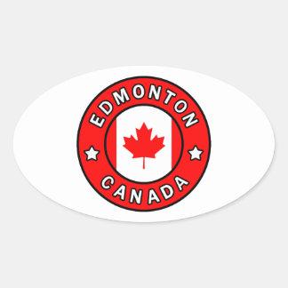 Edmonton Canada Oval Sticker