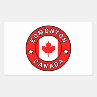 Edmonton Canada Rectangular Sticker