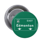 Edmonton, Canada Road Sign Pinback Buttons