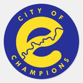 Edmonton City of Champions Classic Round Sticker