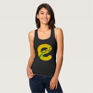 Edmonton Map Racerback Tank Top