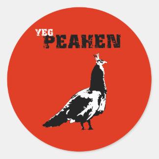 Edmonton Peahen Classic Round Sticker