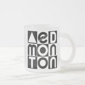 Edmonton Puzzle Frosted Glass Mug