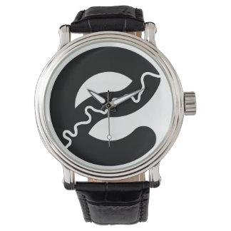 Edmonton River Black Leather Watch