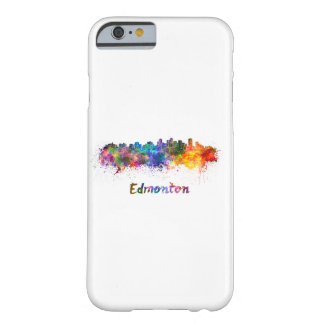 Edmonton skyline in watercolor barely there iPhone 6 case