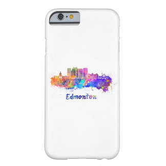 Edmonton V2 skyline in watercolor Barely There iPhone 6 Case