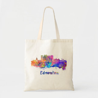 Edmonton V2 skyline in watercolor Tote Bag
