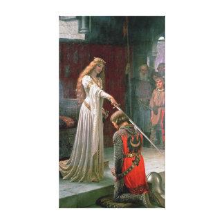 Edmund Blair Leighton Accolade Canvas Print