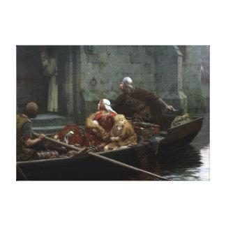 Edmund Blair Leighton In Time of Peril Canvas Print