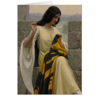 Edmund Blair Leighton Seamstress Card