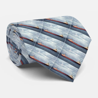 Edmund Fitzgerald on the St. Clair River Vintage Tie