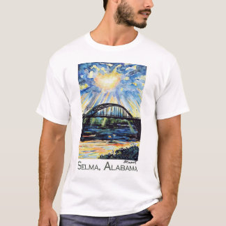 Edmund Pettus Bridge, Selma Alabama, Sunburst T-Shirt