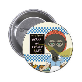 Edna the lunch lady 6 cm round badge