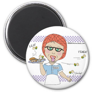 Edna The Lunch Lady Cartoons 6 Cm Round Magnet