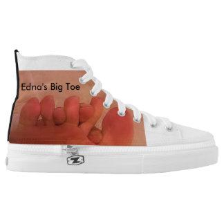 EDNA'S BIG TOE PRINTED SHOES