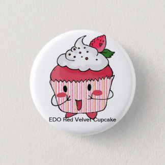 EDO red velvet cupcake 3 Cm Round Badge