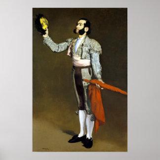 Édouard Manet A Matador Poster