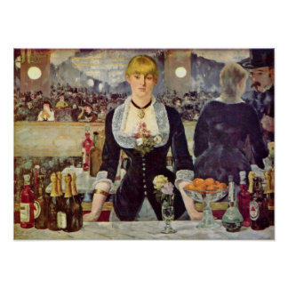 edouard Manet - Bar at the Folies-Bergere Poster