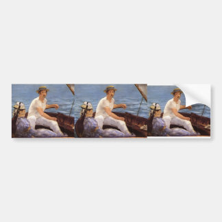 Edouard Manet- Boating Bumper Stickers