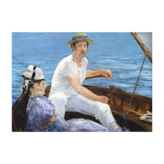 Édouard Manet Boating Canvas Print