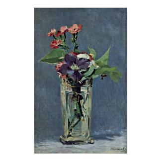 edouard Manet - Carnations and Clematis Poster