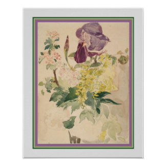 Edouard Manet - Flower Print 16 x 20