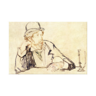 Edouard Manet - George Moore at the Cafe Canvas Print