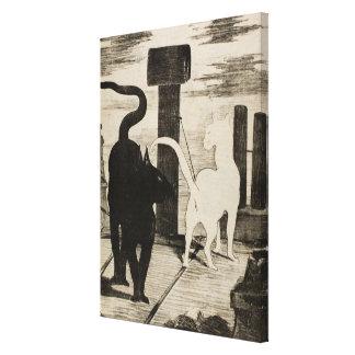 Edouard Manet ~ Le Rendez-vous des Chats Canvas Print