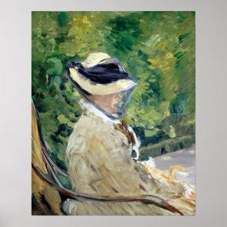 Édouard Manet Madame Manet at Bellevue Poster