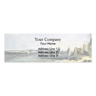 Edouard Manet- Seascape at Arcachon Business Card Template