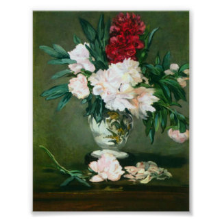 Edouard Manet - Still Life Vase with Peonies Poster