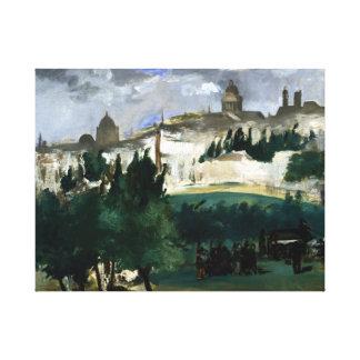 Édouard Manet The Funeral Canvas Print