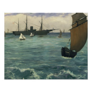Edouard Manet - The Kearsarge at Boulogne Poster