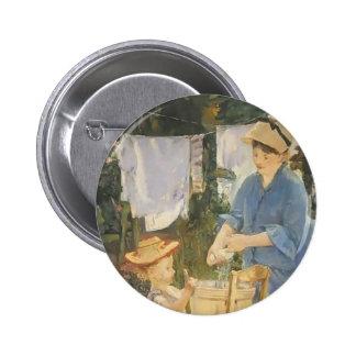 Edouard Manet- The laundry 6 Cm Round Badge