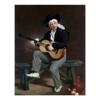 Édouard Manet The Spanish Singer Poster
