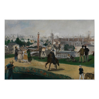 Edouard Manet - View of the Universal Exhibition Poster