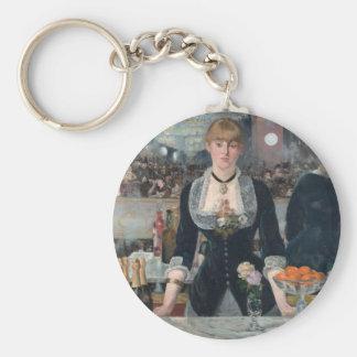Edouard Manet's A Bar at the Folies-Bergère Key Ring