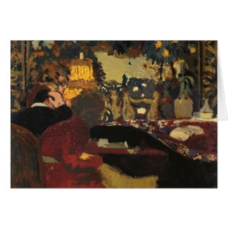 Edouard Vuillard- In front of a Tapestry Card